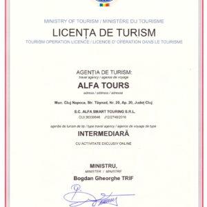 licenta de turism Alfa Tours